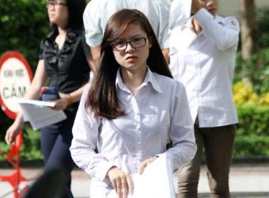 Thí sinh tham dự kỳ thi đại học cao đẳng năm 2013.
