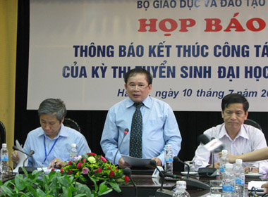 Trước ngày 10/8, Bộ GD&ĐT sẽ họp và công bố điểm sàn