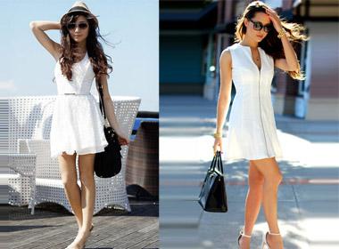 Màu trắng luôn là sắc màu đơn giản và dễ tìm nhất trong thời trang