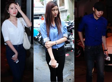 Sao Việt mặc màu trắng, xanh tới viếng Wanbi Tuấn Anh