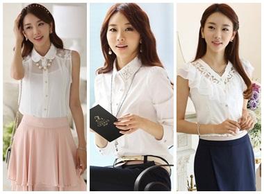 Sơ mi trắng - kiểu trang phục không thể thiếu cho các bạn gái