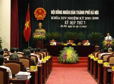Kỳ họp thứ 7 HĐND TP Hà Nội khóa XIV