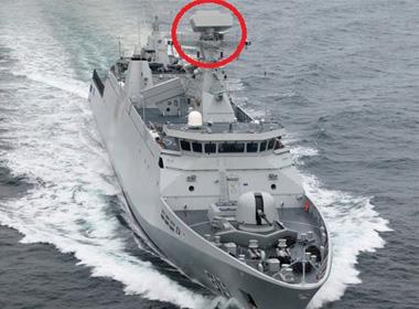 Tàu hộ vệ tàng hình Sigma 9813 của Hải quân Morocc với radar SMART-S MK2 (dấu đỏ).