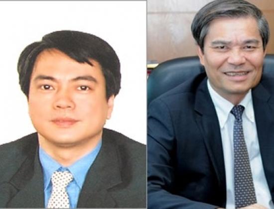 Ông Trần Mạnh Hùng (trái) và ông Vũ Tuấn Hùng (phải)