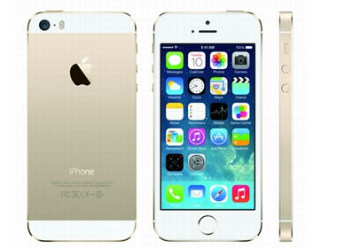 iPhone 5S với ba màu bạc, vàng, xám và không có màu đen