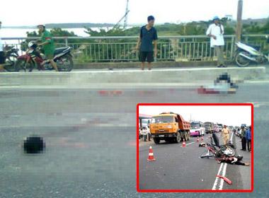 Hiện trường tai nạn khiến giảng viên đại học thiệt mạng