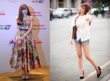 Gu thời trang thay đổi của Bích Phương