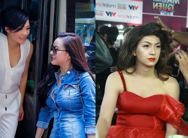 Vy Oanh và Ngô Kiến Huy nỗ lực hết mình trong chương trình 'Gương mặt thân quen' mùa thứ hai