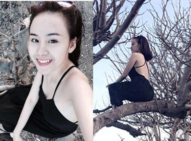Bà Tưng bị ném đá tơi tả vì khoe ảnh mặc váy trèo cây