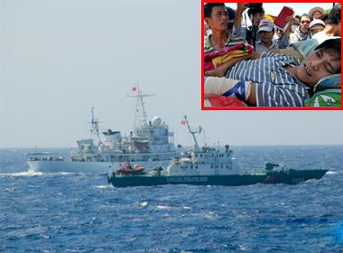 NÓNG 24h: Tàu TQ hung hăng tông thẳng tàu VN; Ngư dân bị hành hung ở Hoàng Sa đã trở về