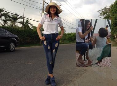 Lê Phương tham gia từ thiện cùng các thí sinh thi 'Duyên dáng xứ Thanh 2014'