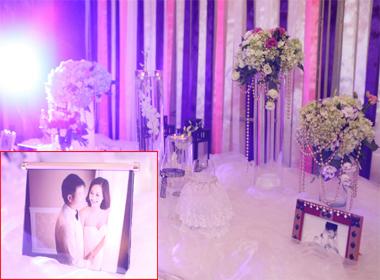 Cô dâu của Văn Quyến chọn tông màu tím lãng mạn cho lễ cưới