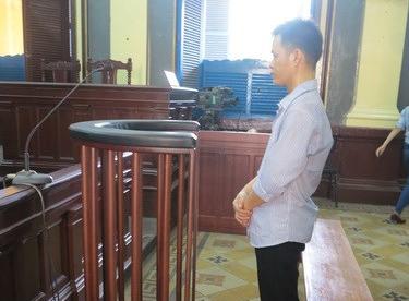 Bị cáo Tiến tại tòa