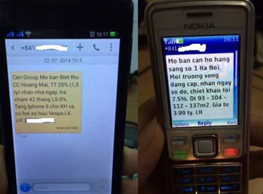 BĐS 'khủng bố' điện thoại, email để mời khách