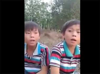 Video hai bé trai hát 'Nơi ấy con tim về'