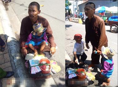 Vạch trần chân tướng người đàn ông 'dị tật' ôm con thơ đi bán vé số ở Vũng Tàu