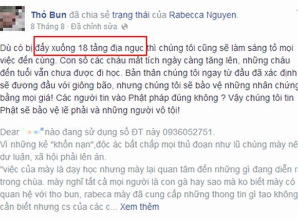 Vụ chùa Bồ Đề: Cô giáo tố cáo bị dọa 'đày xuống 18 tầng địa ngục'