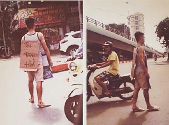 'Người tàng hình' xuất hiện trên phố Hà Nội