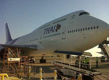Máy bay Thái Lan hạ cánh khẩn cấp vì vỡ kính buồng lái