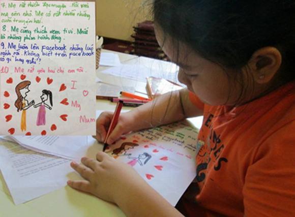 Trẻ tiểu học tả mẹ nhiều mụn, nghiện mạng xã hội
