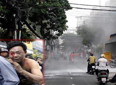 Cháy nổ ngay trung tâm TP. Hồ Chí Minh, 1 người bỏng nặng