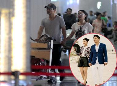 Vợ chồng Châu Tấn 'tay trong tay' tại sân bay