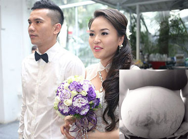 Vợ mới của Tú Dưa  chuẩn bị 'lâm bồn'