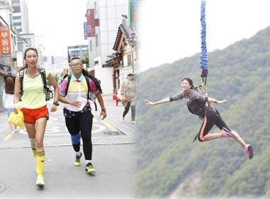 Cuộc đua kỳ thú 2014: Trang Trần bay trên không trung