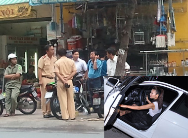 Xuất hiện loạt ảnh tại hiện trường xe Thanh Hằng gây tai nạn giao thông