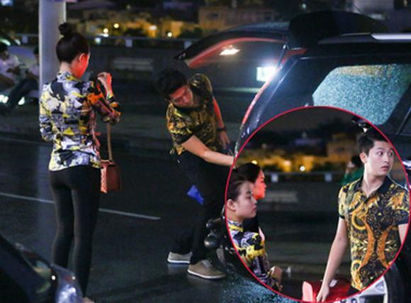 Hoàng Thùy Linh, Harry Lu mặc áo đôi đi Hàn Quốc lúc nửa đêm