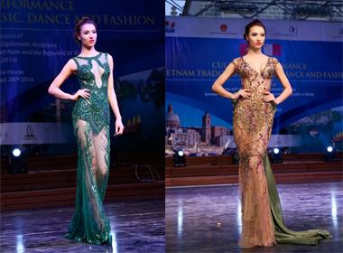 Hồng Quế gợi cảm diện váy xuyên thấu trong BST của NTK Hoàng Hải