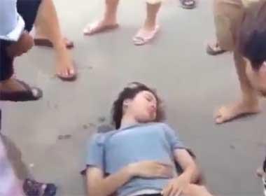 Video cứu sống cô gái nhảy sông tự tử