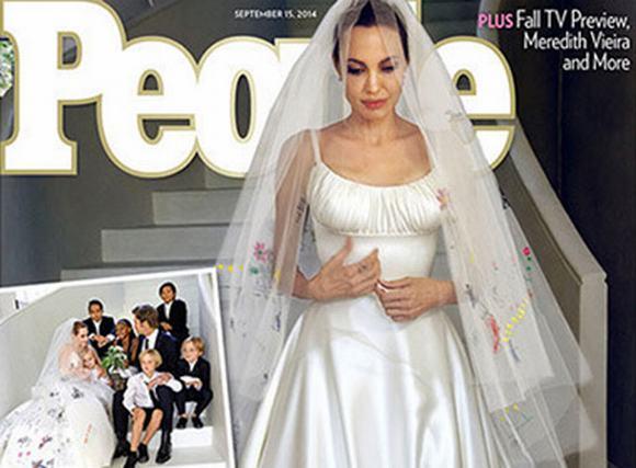 Hé lộ váy cưới đặc biệt của Angelina Jolie