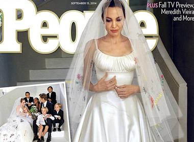 Chiếc váy cưới 'độc nhất vô nhị' của Angelina Jolie