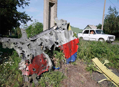 Máy bay Malaysia MH17 đã phát nổ giữa trời