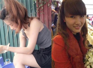 Thất vọng với dung nhan thật của 'hotgirl bánh tráng trộn' Hà Nội