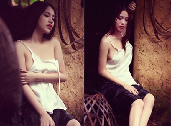 Bộ ảnh 'chị Dậu' của Linh Miu khiến dân mạng dậy sóng