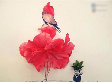 Mê mẩn bộ tranh vẽ sáng tạo từ kẹo và hoa