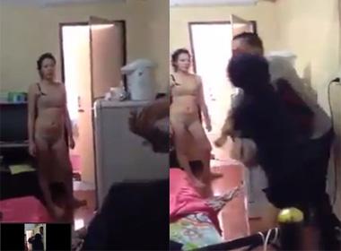 Vợ đánh chồng khi bắt quả tang chồng ngoại tình trong nhà nghỉ