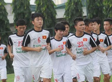 U19 Việt Nam tập luyện cho trận chung kết với U19 Nhật Bản
