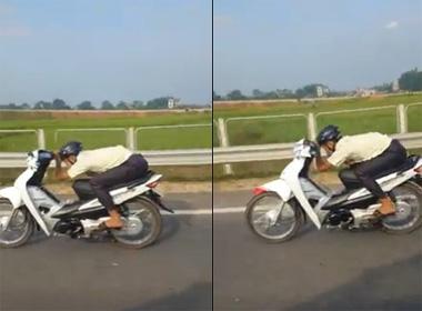Ôtô chạy 120km/h vẫn không đuổi kịp xe máy