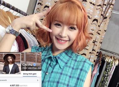 Chi Pu gây sốc với hơn 4 triệu lượt thích trên Facebook