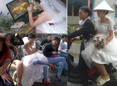 Cô dâu đi dép 'gần huyền thoại' bá đạo gây chú ý