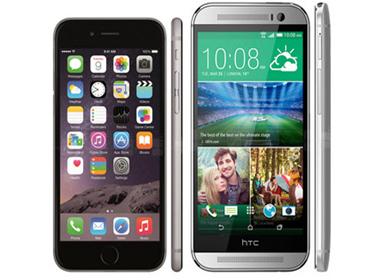 iPhone 6 so tài cao thấp với HTC One M8