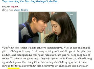 Sự thật chuyện Kim Tan công khai bạn gái người Việt