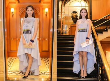 Mai Phương Thuý sang trọng với đầm hàng hiệu ở Singapore