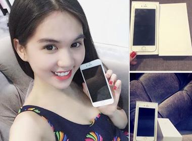 Ngọc Trinh là Sao Việt đầu tiên khoe iPhone 6 mới tậu