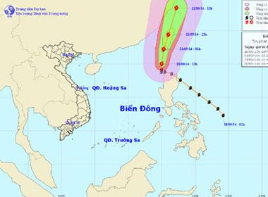 Bão Fung-Wong hướng ra phía ngoài Biển Đông