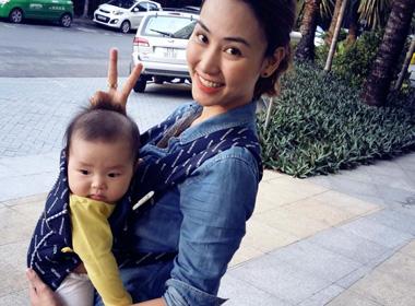 Ngân Khánh địu 'con' khiến fan cực sốc