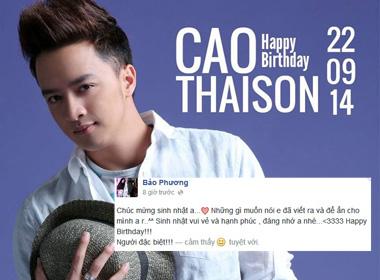 Bảo Phương gửi lời chúc đặc biệt mừng sinh nhật Cao Thái Sơn